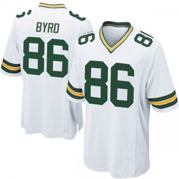 Youth Nike Green Bay Packers Emanuel Byrd White Jersey - Game