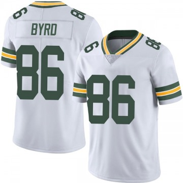 Youth Nike Green Bay Packers Emanuel Byrd White Vapor Untouchable Jersey - Limited