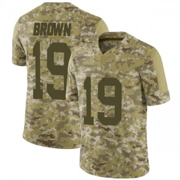 Youth Nike Green Bay Packers Equanimeous St. Brown Brown Camo 2018 Salute to Service Jersey - Limited
