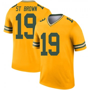 Youth Nike Green Bay Packers Equanimeous St. Brown Gold Inverted Jersey - Legend