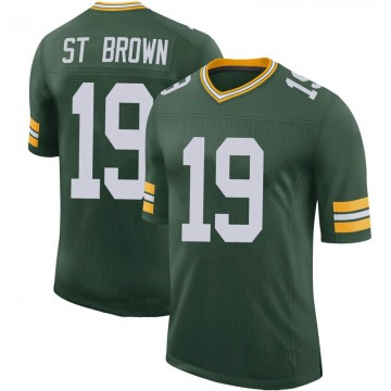 Youth Nike Green Bay Packers Equanimeous St. Brown Green 100th Vapor Jersey - Limited
