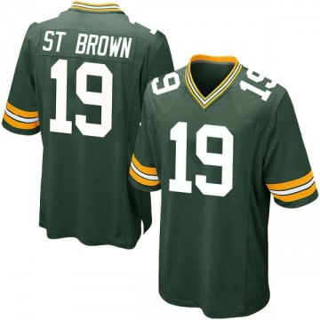 Youth Nike Green Bay Packers Equanimeous St. Brown Green Team Color Jersey - Game