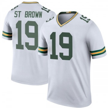 Youth Nike Green Bay Packers Equanimeous St. Brown White Color Rush Jersey - Legend