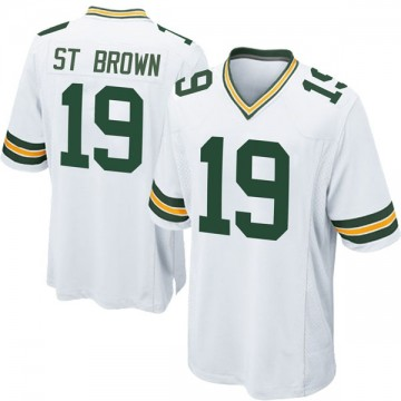 Youth Nike Green Bay Packers Equanimeous St. Brown White Jersey - Game