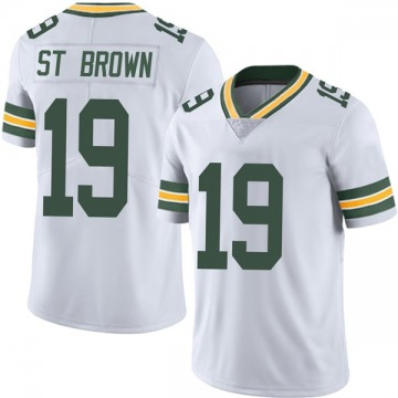 Youth Nike Green Bay Packers Equanimeous St. Brown White Vapor Untouchable Jersey - Limited