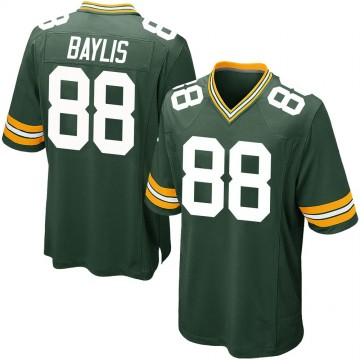 Youth Nike Green Bay Packers Evan Baylis Green Team Color Jersey - Game