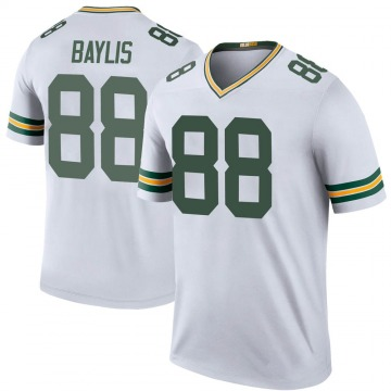 Youth Nike Green Bay Packers Evan Baylis White Color Rush Jersey - Legend