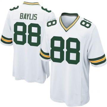 Youth Nike Green Bay Packers Evan Baylis White Jersey - Game