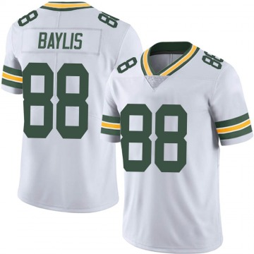 Youth Nike Green Bay Packers Evan Baylis White Vapor Untouchable Jersey - Limited