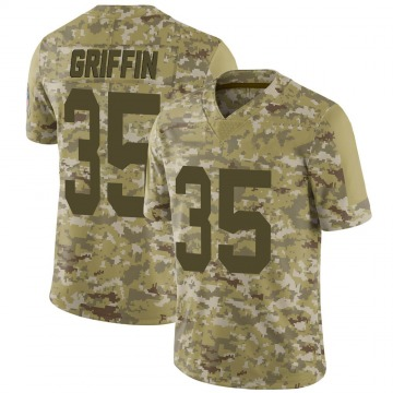 Youth Nike Green Bay Packers Frankie Griffin Camo 2018 Salute to Service Jersey - Limited