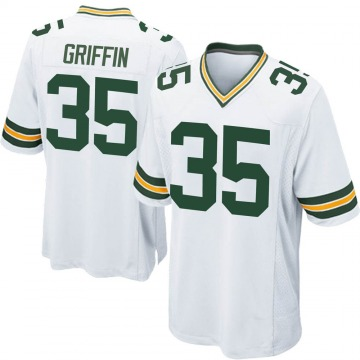 Youth Nike Green Bay Packers Frankie Griffin White Jersey - Game
