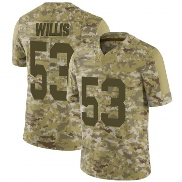 Youth Nike Green Bay Packers Gerald Willis III Camo 2018 Salute to Service Jersey - Limited