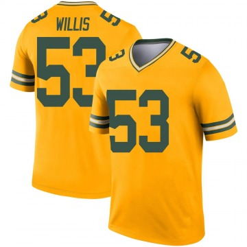 Youth Nike Green Bay Packers Gerald Willis III Gold Inverted Jersey - Legend