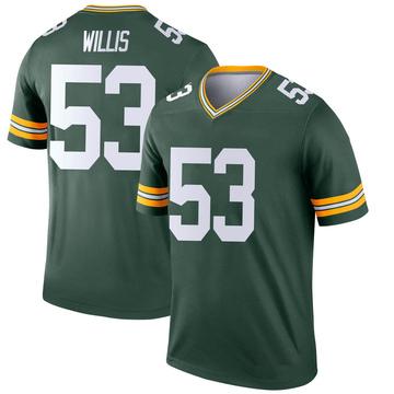 Youth Nike Green Bay Packers Gerald Willis III Green Jersey - Legend