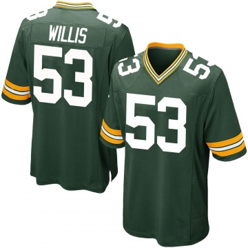 Youth Nike Green Bay Packers Gerald Willis III Green Team Color Jersey - Game