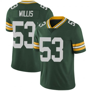 Youth Nike Green Bay Packers Gerald Willis III Green Team Color Vapor Untouchable Jersey - Limited