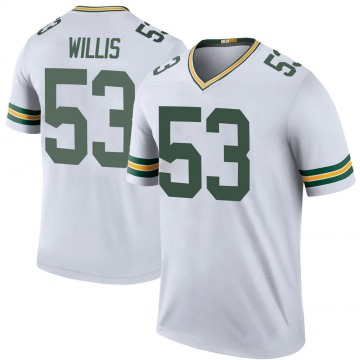 Youth Nike Green Bay Packers Gerald Willis III White Color Rush Jersey - Legend