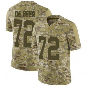 Youth Nike Green Bay Packers Gerhard de Beer Camo 2018 Salute to Service Jersey - Limited