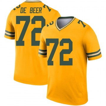 Youth Nike Green Bay Packers Gerhard de Beer Gold Inverted Jersey - Legend