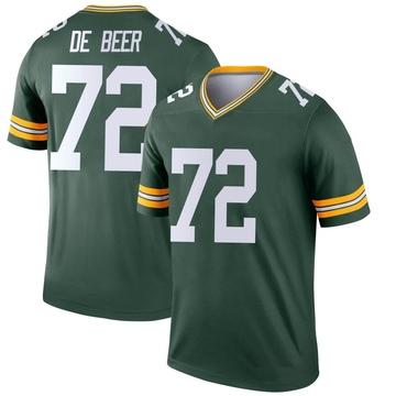 Youth Nike Green Bay Packers Gerhard de Beer Green Jersey - Legend