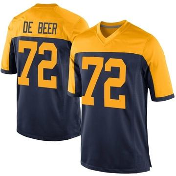 Youth Nike Green Bay Packers Gerhard de Beer Navy Alternate Jersey - Game