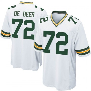 Youth Nike Green Bay Packers Gerhard de Beer White Jersey - Game