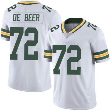 Youth Nike Green Bay Packers Gerhard de Beer White Vapor Untouchable Jersey - Limited