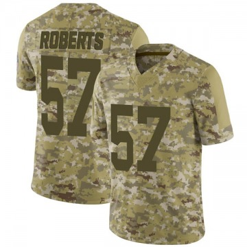Youth Nike Green Bay Packers Greg Roberts Camo 2018 Salute to Service Jersey - Limited