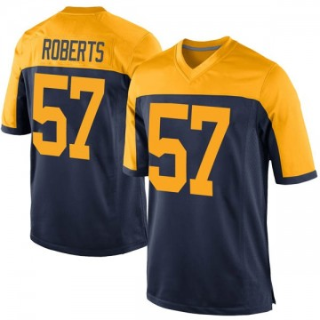 Youth Nike Green Bay Packers Greg Roberts Navy Alternate Jersey - Game