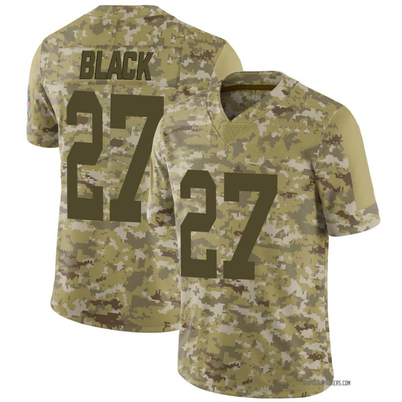 Youth Nike Green Bay Packers Henry Black Black Camo 2018 Salute to Service Jersey - Limited