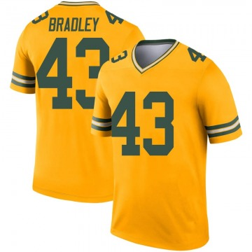 Youth Nike Green Bay Packers Hunter Bradley Gold Inverted Jersey - Legend