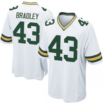 Youth Nike Green Bay Packers Hunter Bradley White Jersey - Game