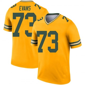 Youth Nike Green Bay Packers Jahri Evans Gold Inverted Jersey - Legend