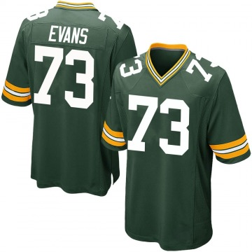 Youth Nike Green Bay Packers Jahri Evans Green Team Color Jersey - Game