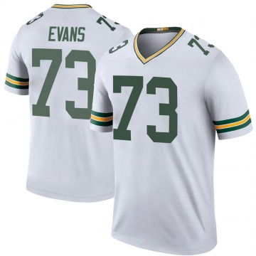 Youth Nike Green Bay Packers Jahri Evans White Color Rush Jersey - Legend