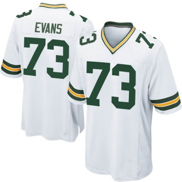 Youth Nike Green Bay Packers Jahri Evans White Jersey - Game
