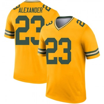 Youth Nike Green Bay Packers Jaire Alexander Gold Inverted Jersey - Legend