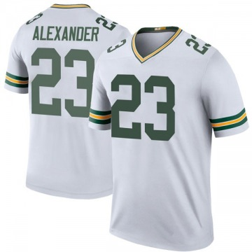 Youth Nike Green Bay Packers Jaire Alexander White Color Rush Jersey - Legend