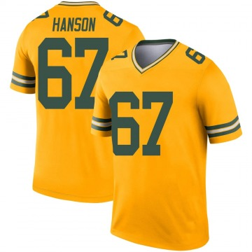 Youth Nike Green Bay Packers Jake Hanson Gold Inverted Jersey - Legend