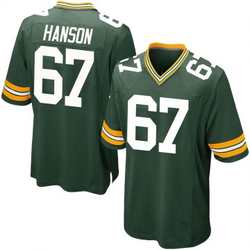 Youth Nike Green Bay Packers Jake Hanson Green Team Color Jersey - Game