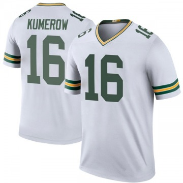 Youth Nike Green Bay Packers Jake Kumerow White Color Rush Jersey - Legend