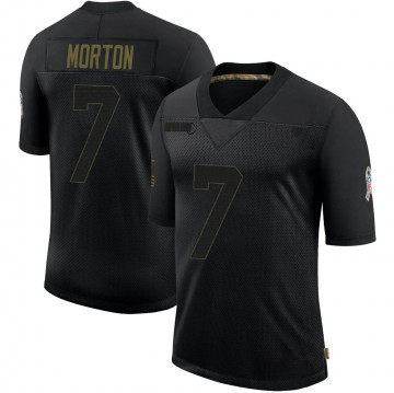 Youth Nike Green Bay Packers Jalen Morton Black 2020 Salute To Service Jersey - Limited