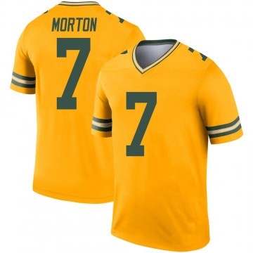 Youth Nike Green Bay Packers Jalen Morton Gold Inverted Jersey - Legend