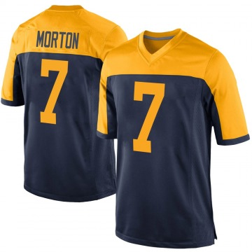 Youth Nike Green Bay Packers Jalen Morton Navy Alternate Jersey - Game