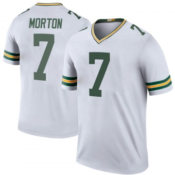 Youth Nike Green Bay Packers Jalen Morton White Color Rush Jersey - Legend