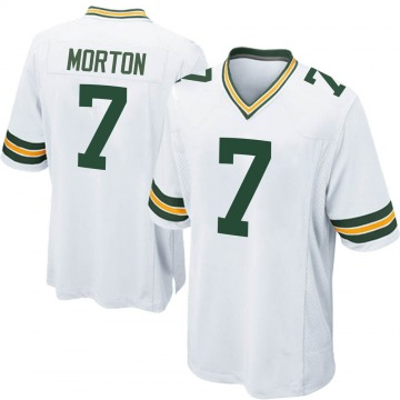 Youth Nike Green Bay Packers Jalen Morton White Jersey - Game