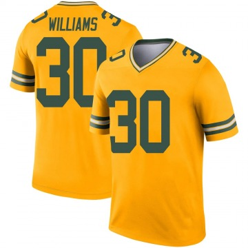 Youth Nike Green Bay Packers Jamaal Williams Gold Inverted Jersey - Legend