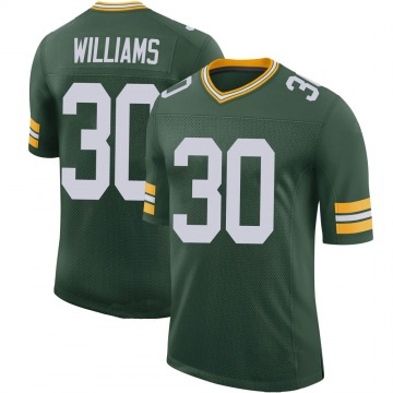 Youth Nike Green Bay Packers Jamaal Williams Green 100th Vapor Jersey - Limited