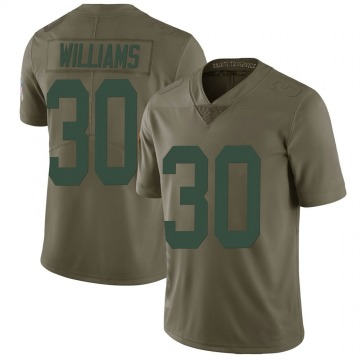 Youth Nike Green Bay Packers Jamaal Williams Green 2017 Salute to Service Jersey - Limited