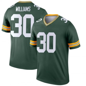 Youth Nike Green Bay Packers Jamaal Williams Green Jersey - Legend